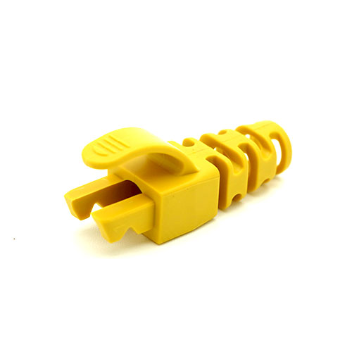 RJ45 Snagless Strain Relief Flush Boot Yellow 6.5mm