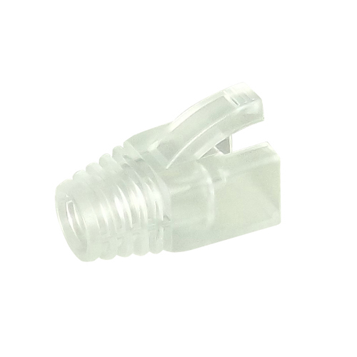 RJ45 Snagless Boot 8mm Clear for use with 22-2096
