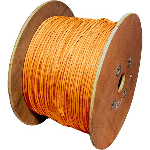 Cat6a Orange S/FTP LSOH 26AWG Stranded Patch Cable 500m Reel