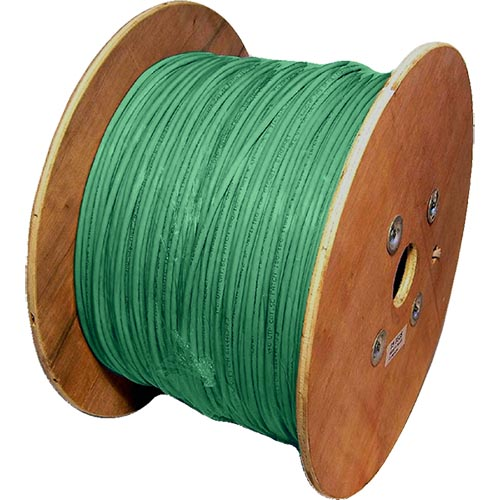 Cat6a Green S/FTP LSOH 26AWG Stranded Patch Cable 500m Reel