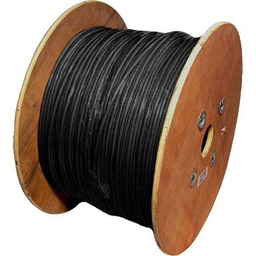 Cat6a Black S/FTP LSOH 26AWG Stranded Patch Cable 500m Reel