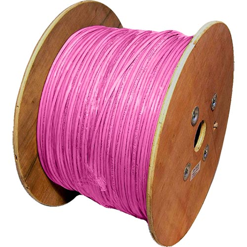 Cat5e Pink U/UTP PVC 24AWG Stranded Patch Cable 500m Reel