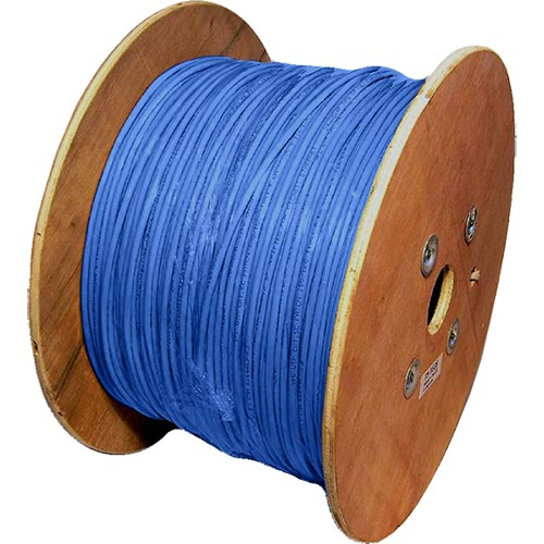 Cat5e Blue U/UTP PVC 24AWG Stranded Patch Cable 500m Reel