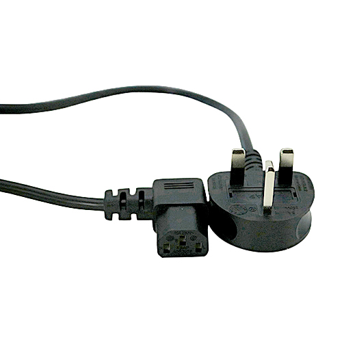 10m UK (5Amp) IEC C13 Black PVC 1.0mm