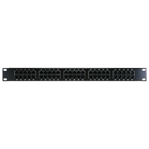 50 Way 1u Voice Panel 3 Pair (1,2 - 3,6 - 4,5)
