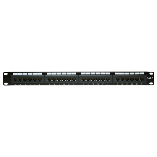 24 Port Cat6 UTP 1u Eco Patch Panel
