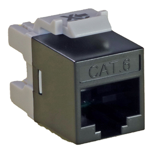 Cat6 UTP Punch Keystone Jack Component Level Black