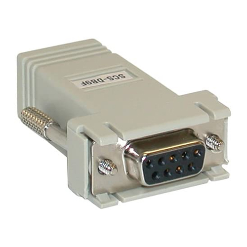 RJ45 Female to DB9 Female Serial Adapter