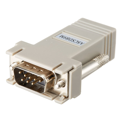 RJ45 Female to DB9 Male Serial Adapter