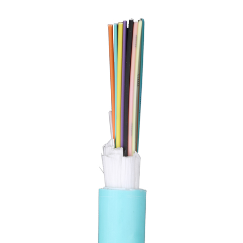 24 Core OM3 Tight Buffered Fibre Cable Aqua Blue