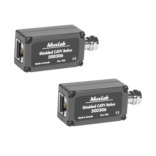 Muxlab Shielded CATV Balun (2pk)