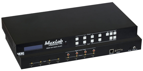 Muxlab HDMI 4 x 4 Matrix Switch (4K@60Hz)