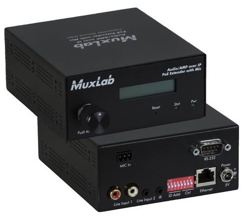 Muxlab Audio/AMP Over IP With MIC & AMP 50w/CH (Transmitter)