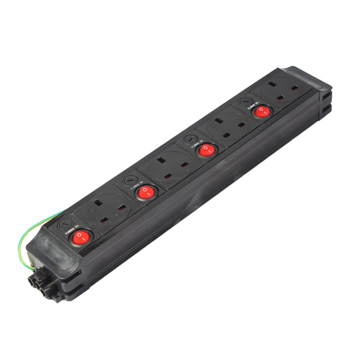 4 x (5Amp) Individually Fused and Switched UK Sockets (North) PDU