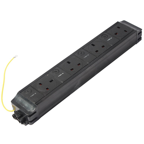 4 x (5Amp) Individually Fused UK Sockets (West, North, North, East) PDU