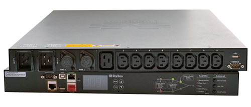 Transfer Switch OS OM (16Amp) 8 Outlets - 7 x C13 1 x C19 Input 2 x IEC C20 Lock
