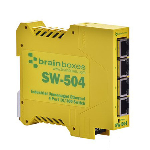 Brainboxes Industrial Unmanaged Ethernet Switch 4 Ports