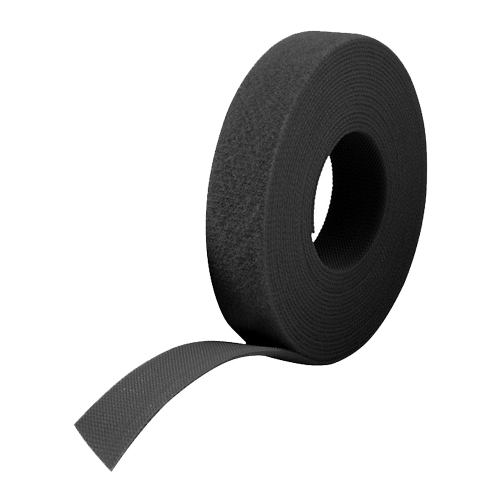 25m Reel x 10mm Velcro One Wrap Continuous Tape Black