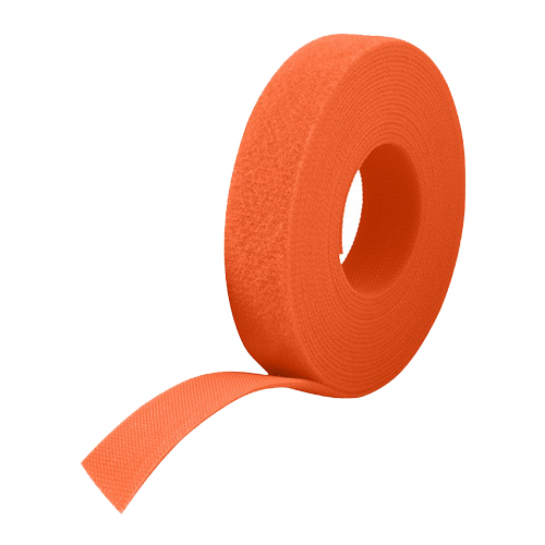 25m Reel x 10mm Velcro One Wrap Continuous Tape Orange