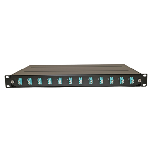 Loaded Fibre Patch Panel, OM3, 24F/12 x LC Duplex