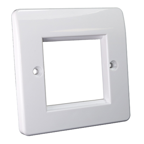 Office Style Faceplate 50mm x 50mm Single Gang White